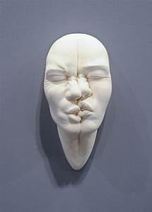 Stretched and contorted porcelain face sculptures by for Stretched and contorted porcelain face sculptures by johnson tsang