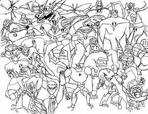 Ben 10 Aliens   Brendan Cave: Drawings