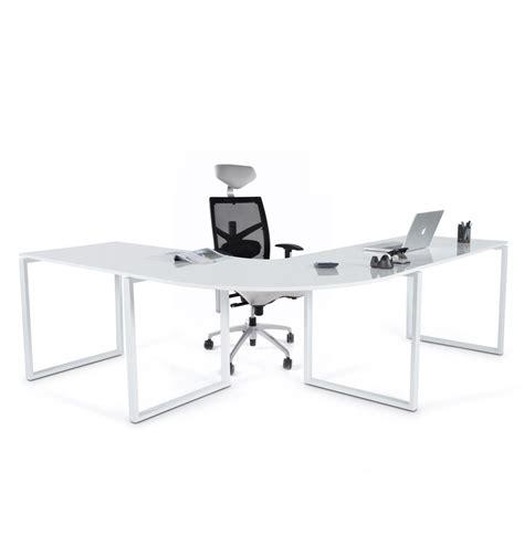 bureau design bruxelles bureau d 39 angle alaska en bois blanc laqué design bureau