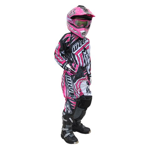 infant motocross wulf wsx 4 girls pink kids off road youth motocross junior