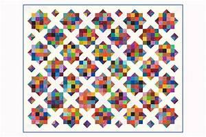 Field of Diamonds Scrap Quilt Pattern