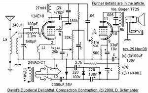 dave39s homemade radios tube radio schematic selector page 2 With radio circuit diagram in addition tube regenerative receiver schematic