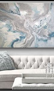 High Gloss Resin Painting Modern Canvas Wall Art Colors of ...