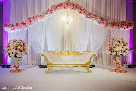 Astonishing Indian wedding reception stage decor