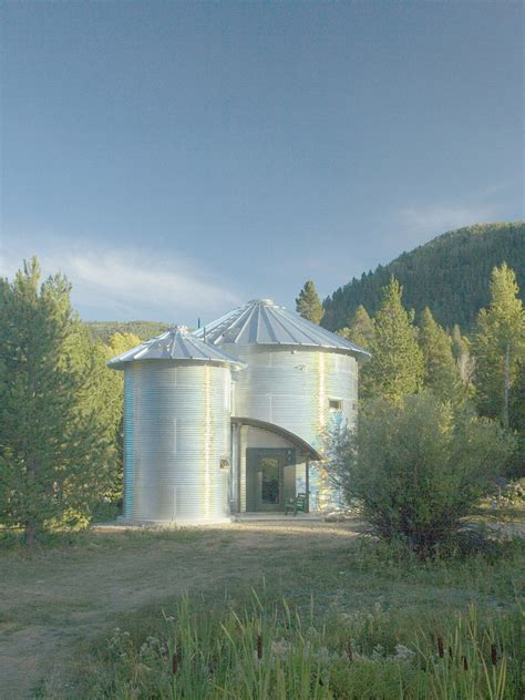 build  inexpensive home  grain silos idesignarch
