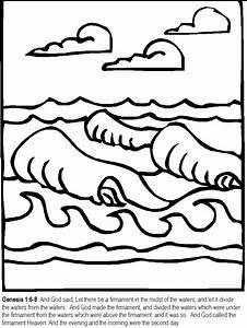 Seven Days Of Creation Coloring Pages - AZ Coloring Pages