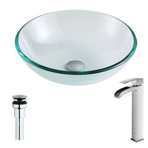ANZZI Etude Series Deco Glass Vessel Sink in Lustrous