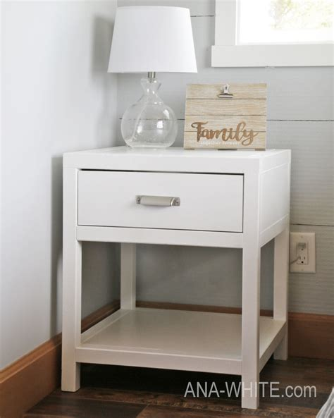 ana white simple modern bedside table diy projects