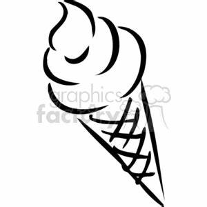 Royalty-Free ice cream cone outline 383136 vector clip art ...