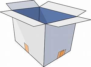 3d Empty Open Box Clip Art At Clker Com