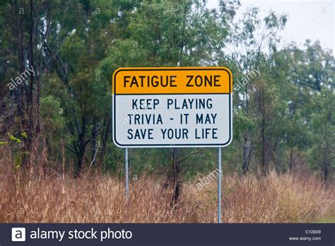 Humorous Australian Road Sign warning of dangers of