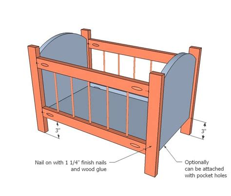 wood doll cradle  plans woodworking projects plans
