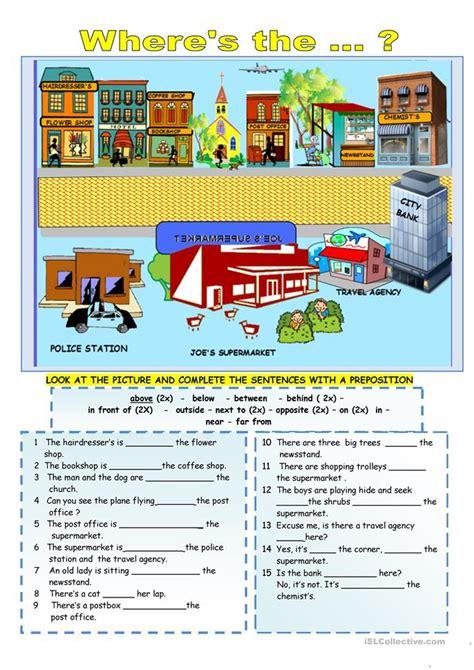 prepositions of location worksheet free esl printable