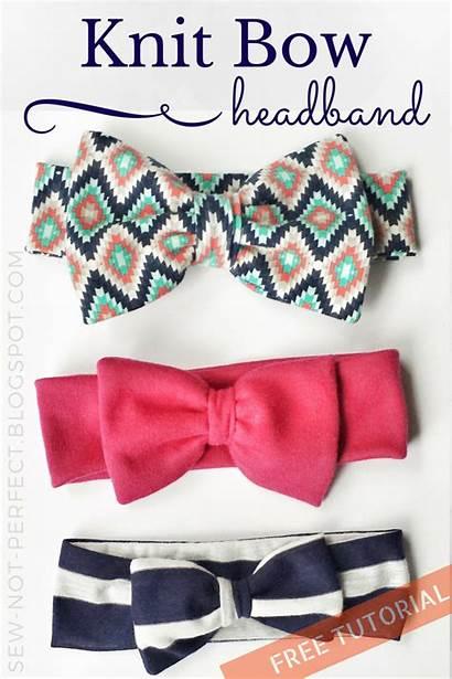 Headband Bow Knit Fabric Sewing Sew Tutorial