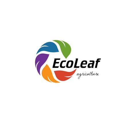 eco leaf  agriculture logo template