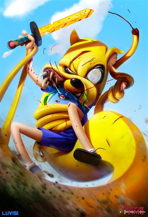 artist  imagines famous cartoon characters