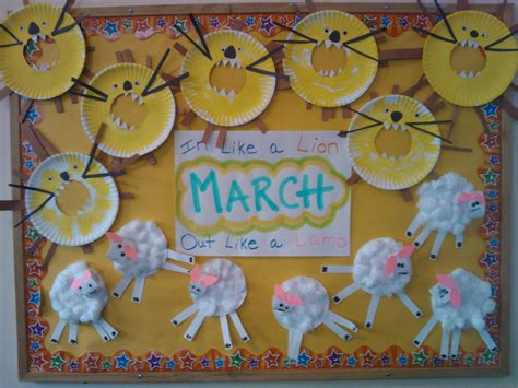 March Bulletin Board...in Like A Lion, Out Like A Lamb! Oh