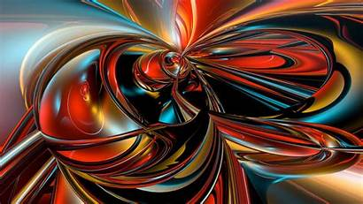 Colorful Fractal 3d Background Abstraction Streaks Author