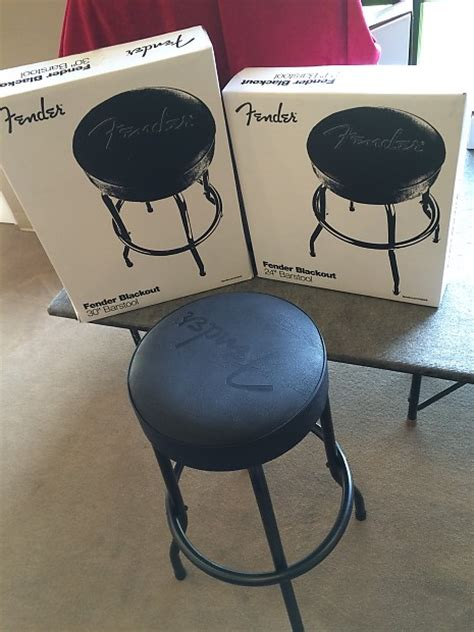 Fender Guitar Stools Fender Guitar Bar Stool Blackout Style 30 Quot Reverb