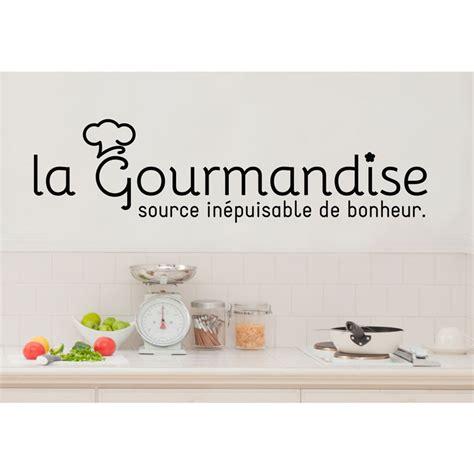 proverbe cuisine sticker citation cuisine la gourmandise source de bonheur