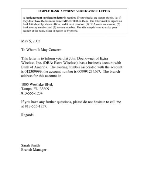 Request letter to bank manager. bank account verification letter - bank account ...