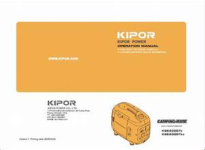 Kipor Kge2000tc Generator User And Parts Manual