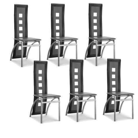 lot 6 chaises noires 24 frais chaises salle ã manger noires phe2 meuble de