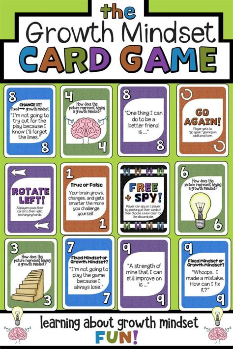 growth mindset card game grit making mistakes