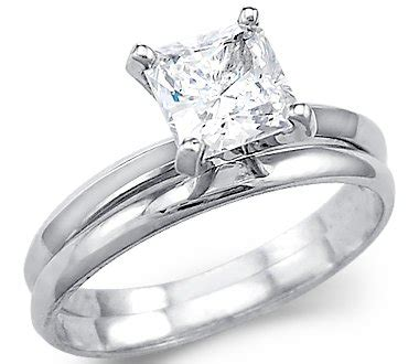 low price solid 14k white gold princess engagement wedding cz cubic zirconia ring 1 5 ct