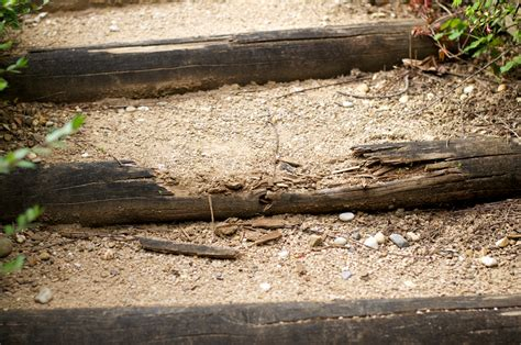 escalier en rondin de bois escalier en bois pour aller au garage