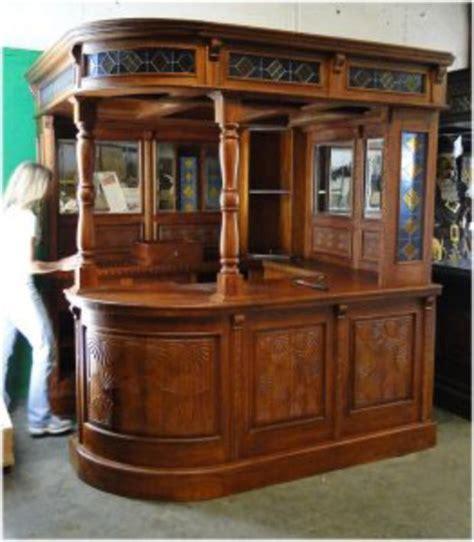 antique pub for carved solid mahogany corner canopy bar furniture 4126