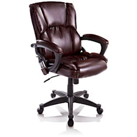 true innovations mid back bonded leather chair 41