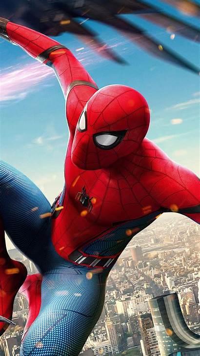 Avengers Spiderman Marvel Hero Illustration Iphone Plus