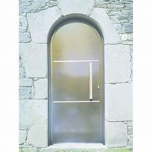 Porte d39entree cintree a ouvrant cache thoraval et fils for Porte d entrée cintrée