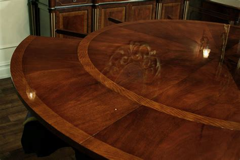 antique reproduction expandable dining table