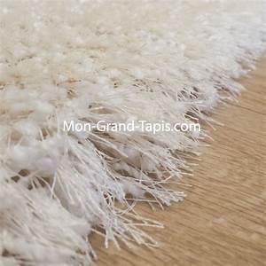 tapis salon shaggy sur mesure blanc ecru par mon grand With tapis shaggy sur mesure
