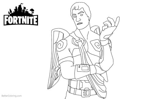 Fortnite Coloring Pages Characters Lineart