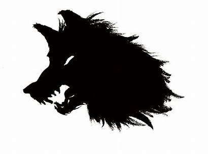 Wolf Silhouette Head Sirius Howling Clipart Clip