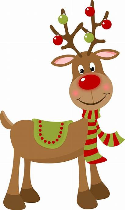 Reindeer Christmas Clip Clipart Rudolph Painting Transparent