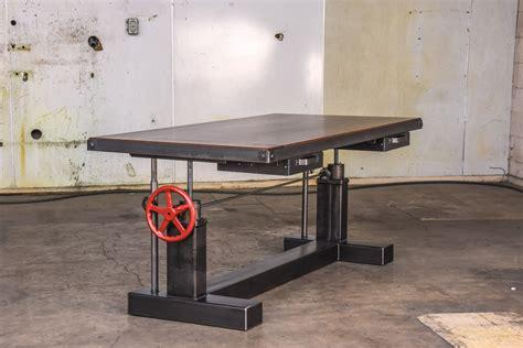 custom islands for kitchen crank sit stand desk vintage industrial furniture