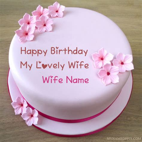 specially wife  wishes birthday cake pictures   pix cards