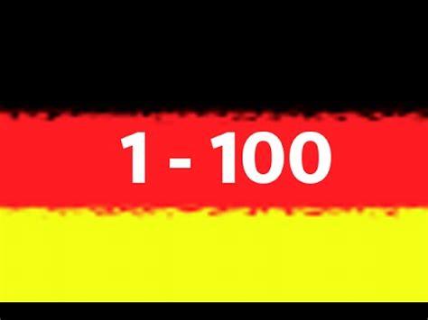 Los Números En Alemán Del 1 Al 100 Youtube