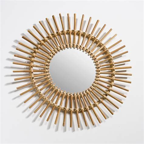 miroir en rotin miroir forme soleil en rotin nogu the d 233 co