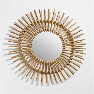 Miroir En Rotin : miroir forme soleil en rotin nogu the blog d co ~ Nature-et-papiers.com Idées de Décoration