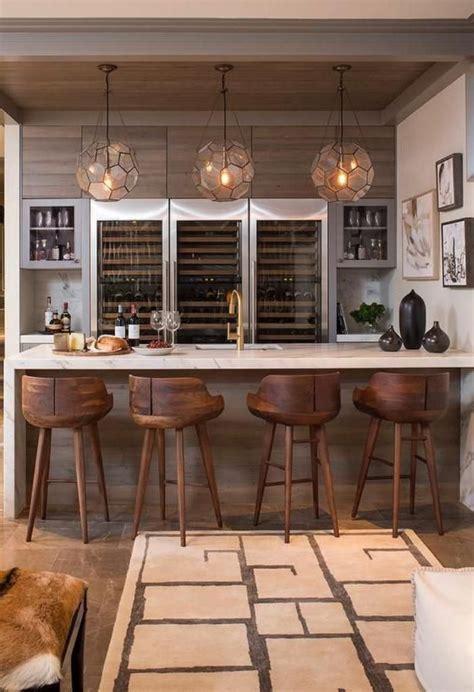 cuisine en bois h黎re idée relooking cuisine cuisine avec bar bar de cuisine blanc avec jolies chaises de bar en bois listspirit com leading inspiration