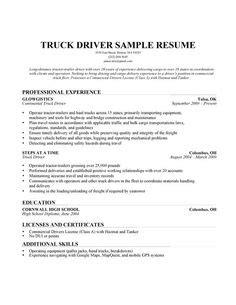 20455 truck driver resume exles truck driver resume exle home resume templates a i