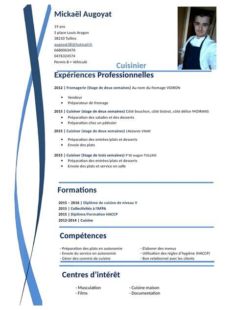 cv commis de cuisine fichier pdf cv pdf par chris page 1 1