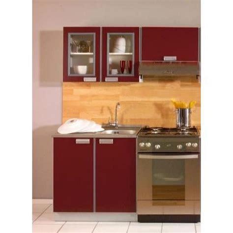meuble cuisine complet cuisine opale bordeaux 1m40 3 meubles achat vente