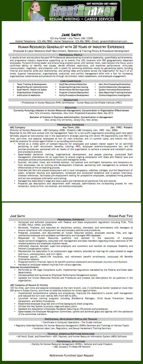 resume human resources generalist h r