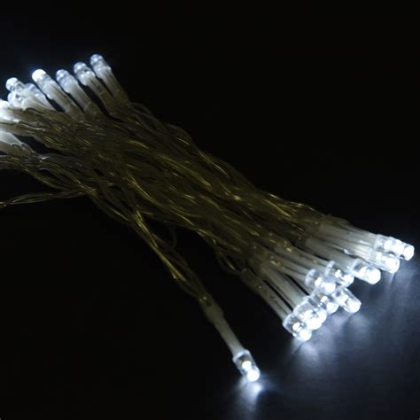 white 30 led string lights battery operated christmas